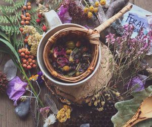 flowers, witch, and aesthetic image