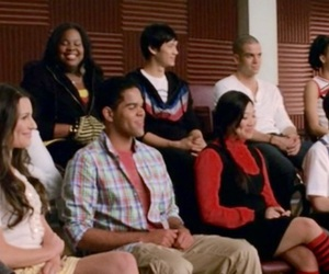 cast, glee, and header image