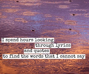 quote, words, and Lyrics image