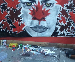 art, canada, and down town image