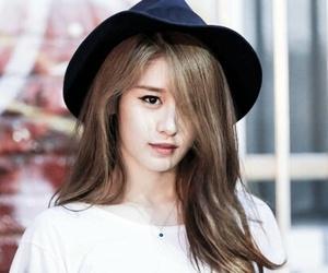 beautiful eyes, hat, and jiyeon image