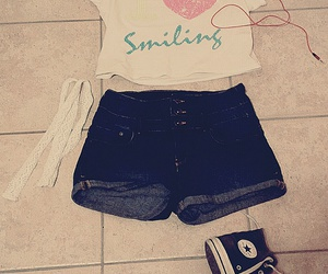 beats, converse, and summer outfit image
