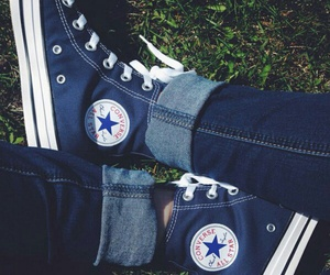 all star, blue, and chuck taylor image