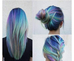 hair, blue, and goals image