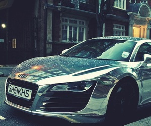 car, audi, and silver image