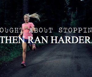 girl, motivation, and running image