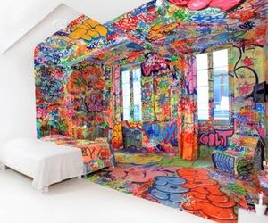 room, art, and graffiti image