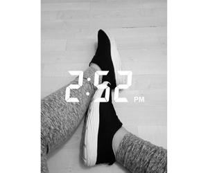 black n white, snapchat, and exercise image