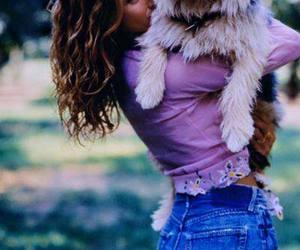 dog and vintage. 1990 image