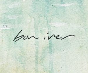 bon iver, music, and text image