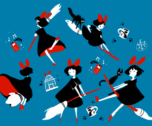 anime, illustration, and kikis delivery service image