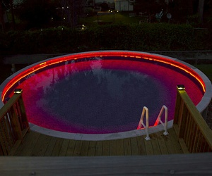 pool and light image