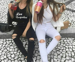 bff, girls, and hair image