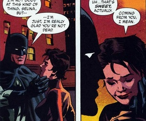 batman, catwoman, and comics image