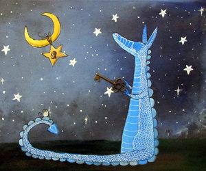 art, cute dragon, and kids wall art image