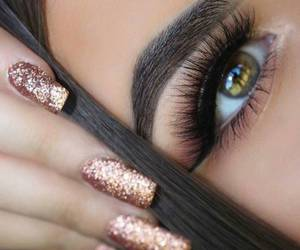 nails, eyes, and makeup image