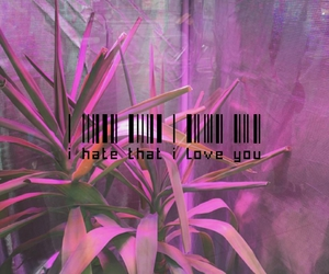 grunge, pink, and plants image
