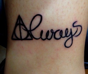 harry potter, always, and black image