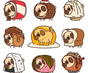 dog, pug, and food image