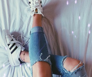 girl, shoes, and sneakers image