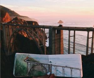 art, sunset, and travel image
