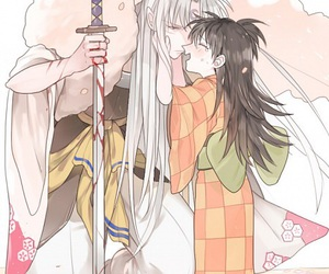 inuyasha, rin, and sesshomaru image