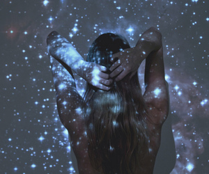 beautiful, faceless, and galaxy image