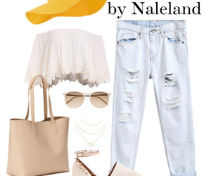 boyfriend jeans, sunglasses, and ootd image