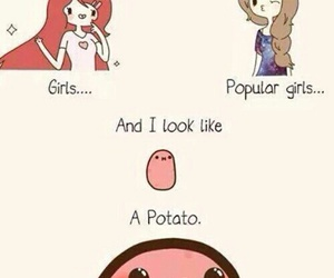 potato, girl, and kawaii image