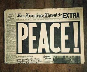 peace, newspaper, and photography image