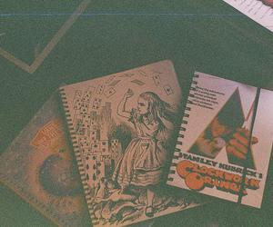 alice in wonderland, clockwork orange, and notebook image