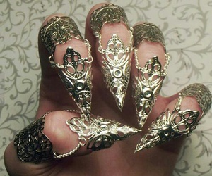 nails, gold, and claws image