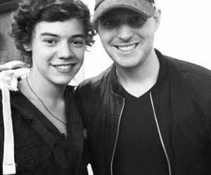 black and white, michael buble, and fetus image