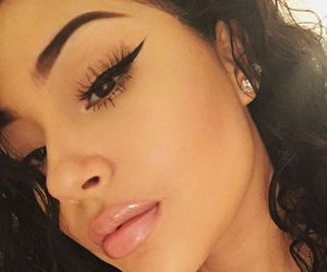 beautiful, winged eyeliner, and fleek eyebrows image