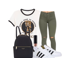 adidas, outfit, and adidas super star image