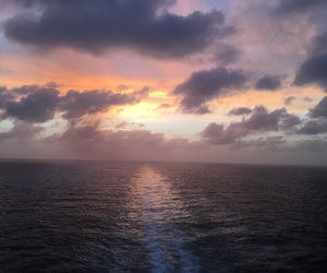 clouds, cruise, and ocean image
