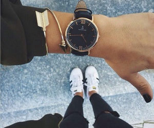 adidas, gold, and time image