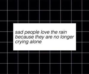 rain, sad, and quote image