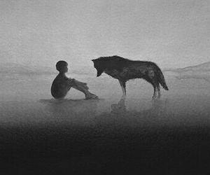wolf, animal, and sweet image