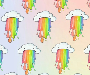 background, rainbow, and wallpaper image