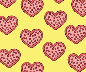 background, heart, and pizza image