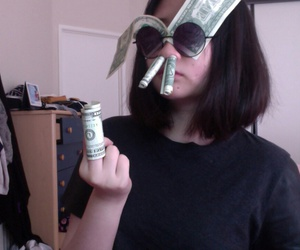 money, girl, and tumblr image