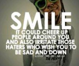 smile, lil wayne, and quote image