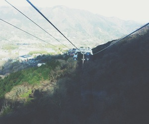 cable car and mountain image