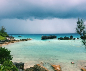 beach, blue, and clouds image