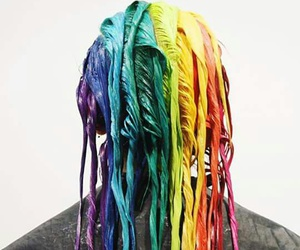 rainbow, colors, and hair image