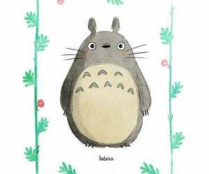 draw, illustration, and totoro image