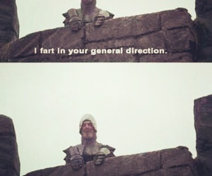 hilarious, monty python, and holy grail image