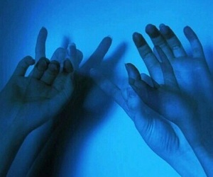 blue, hands, and aesthetic image