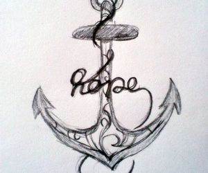 hope, tattoo, and anchor image